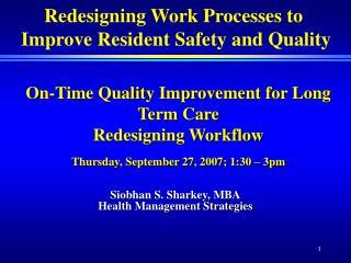 Siobhan S. Sharkey, MBA Health Management Strategies