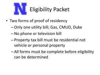 Eligibility Packet