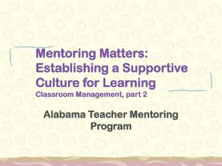 Alabama Teacher Mentoring Program