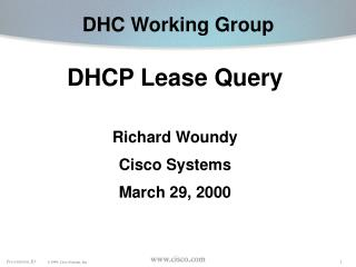 DHC Working Group