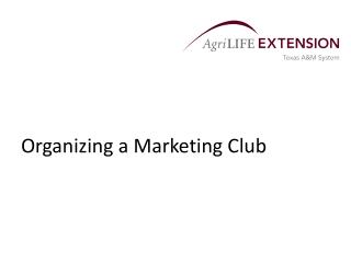 Organizing a Marketing Club