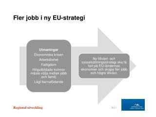 Fler jobb i ny EU-strategi