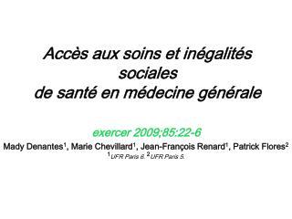 Accès aux soins et inégalités sociales de santé en médecine générale
