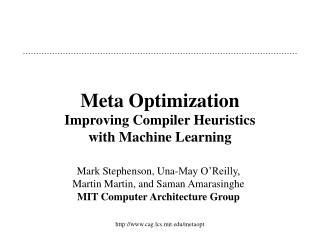 Meta Optimization