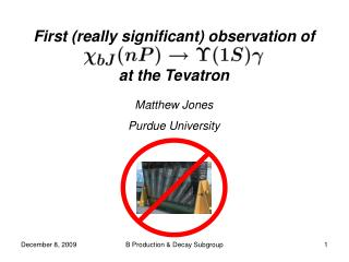 First (really significant) observation of  at the Tevatron