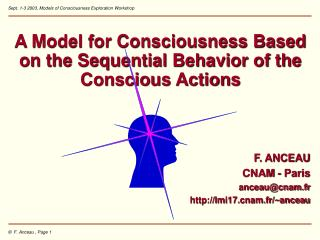 A Model for Consciousness Based on the Sequential Behavior of the Conscious Actions F. ANCEAU