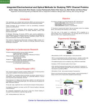 Integrated Electrochemical and Optical Methods for Studying TRPV Channel Proteins