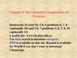 Chapter 4 The Chemical Composition of Proteins