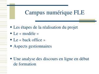 Campus numérique FLE
