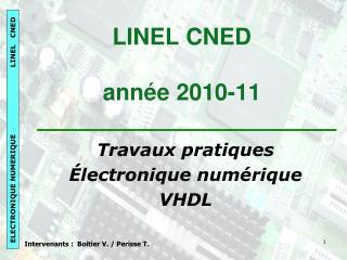 LINEL CNED année 2010-11