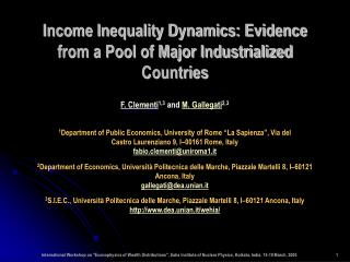 Income Inequality Dynamics: Evidence from a Pool of Major Industrialized Countries