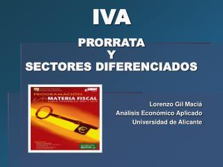 IVA PRORRATA  Y  SECTORES DIFERENCIADOS
