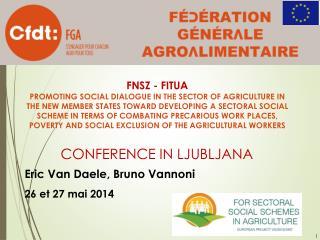 Conference  in Ljubljana