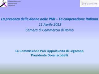 Commissione Pari Opportunità Legacoop