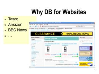 Why DB for Websites