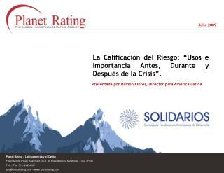 Planet Rating   Latinoam rica y el Caribe Francisco de Paula Ugarriza 813 Of. 301San Antonio, Miraflores, Lima - Per   T