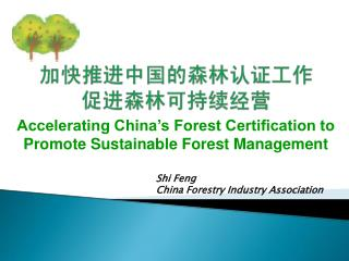 Shi Feng China Forestry Industry Association