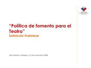 Temario Sobre Políticas Públicas Proceso de formulación Contenidos de propuesta preliminar:
