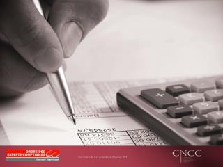 Commission de droit comptable du 29 janvier 2013