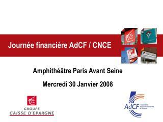 Journée financière AdCF / CNCE