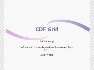 CDF Grid