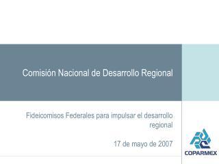 Comisión Nacional de Desarrollo Regional