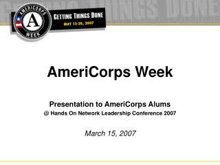 AmeriCorps Week