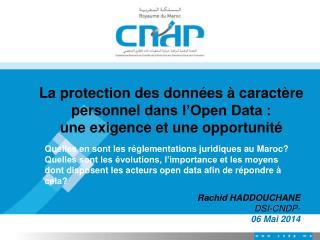 La  protection des données à caractère personnel  dans l'Open Data :