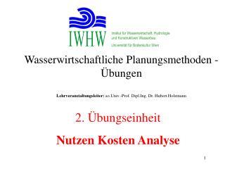 Institut für Wasserwirtschaft, Hydrologie und Konstruktiven Wasserbau