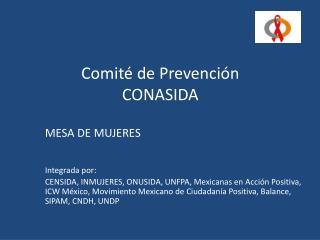 Comité de Prevención CONASIDA