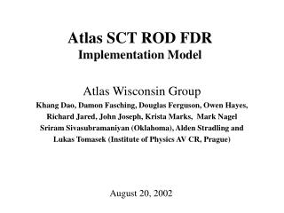 Atlas SCT ROD FDR Implementation Model