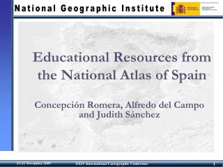 Educational Resources from the National Atlas of Spain