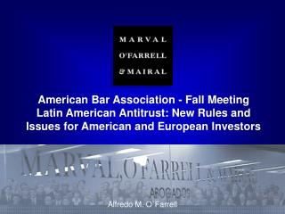 American Bar Association – Fall Meeting – Brussels