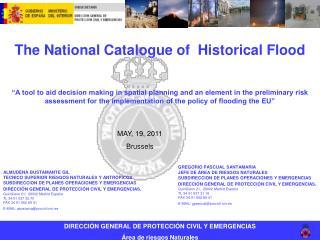 DIRECCIÓN GENERAL DE PROTECCIÓN CIVIL Y EMERGENCIAS Área de riesgos Naturales