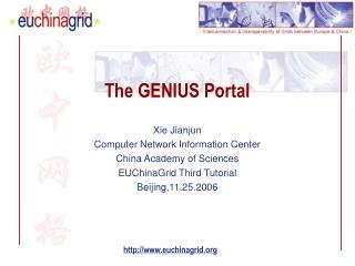 The GENIUS Portal