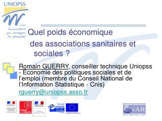 Quel poids économique  des associations sanitaires et sociales ?