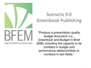 Scenario 9.0  Greenbook  Publishing