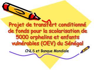 CNLS et Banque Mondiale