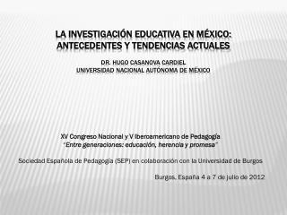 XV Congreso Nacional y V Iberoamericano de Pedagogía