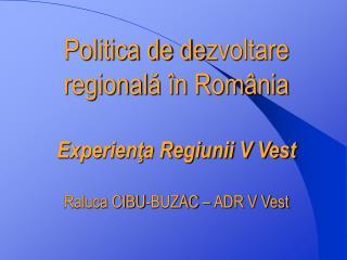 Regiunea V Vest � ADR V Vest