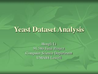 Yeast Dataset Analysis