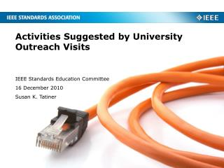 Activities Suggested by University Outreach Visits