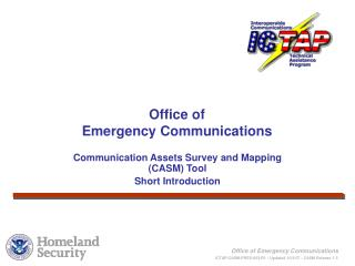 Communication Assets Survey and Mapping (CASM) Tool  Short Introduction