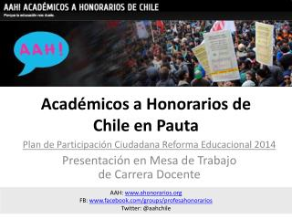 Académicos a Honorarios de Chile en Pauta