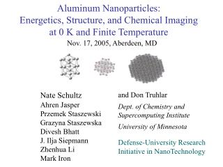 Aluminum Nanoparticles: Energetics, Structure, and Chemical Imaging at 0 K and Finite Temperature