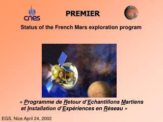 Status of the French Mars exploration program