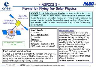 - ASPICS 2 - Formation Flying for Solar Physics