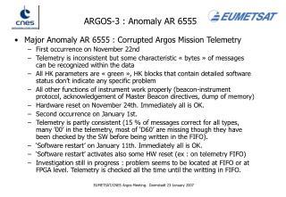 ARGOS-3 : Anomaly AR 6555