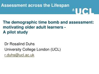 The demographic time bomb and assessment: motivating older adult learners - A pilot study