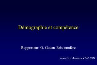 Démographie et compétence